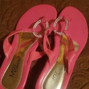 Hot pink sandals 👡
